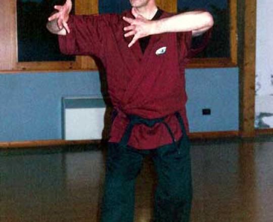 Gianni Bacilieri, studente del Maestro Yang, tanti anni campione mondiale di Muay Thai, Kickboxing, Karate