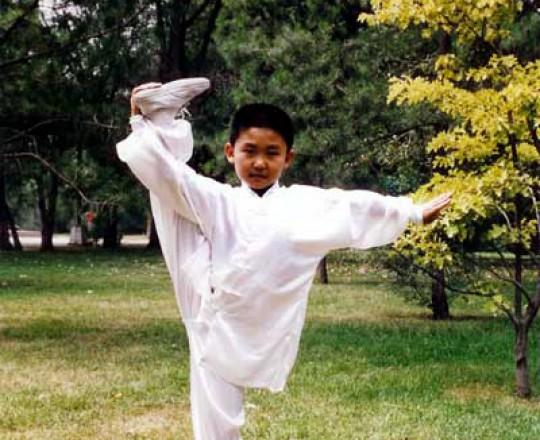 Su Guan Zhong, il nipote del Maestro Yang Lin Sheng, all'età di 10 anni