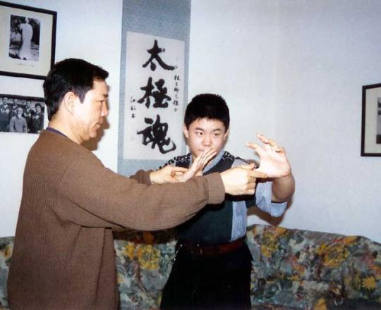Il Maestro Yang Lin Sheng insegna Yi-Quan al figlio Yang Meng