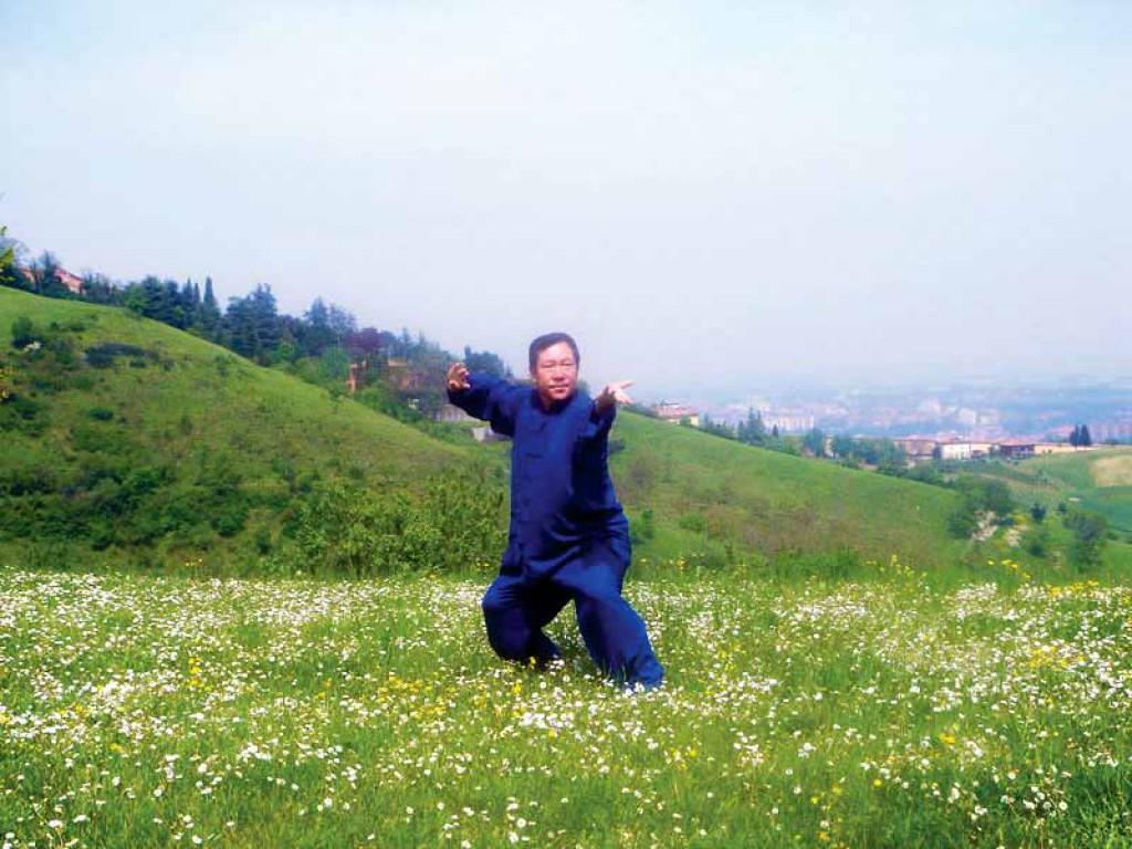 Il Maestro Yang Lin Sheng pratica la forma del Taiji Quan Chen