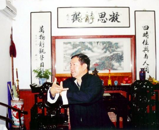 Il Maestro Yang Lin Sheng pratica Taiji Quan nella sua casa di Tianjin