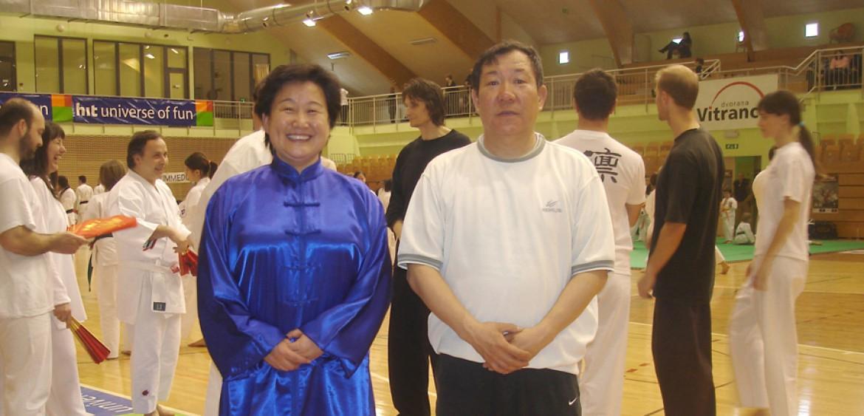 Il Maestro Yang Lin Sheng e la Maestra Liu Chun Yan a Kranjska Gora