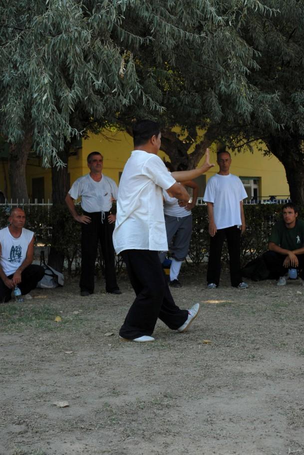 Forma13, movimento 4 - Zhou Di Chui (pugno sotto il gomito)