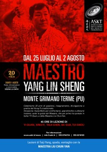 Il Maestro Yang Lin Sheng a Monte Grimano dal 25 luglio al 2 agosto